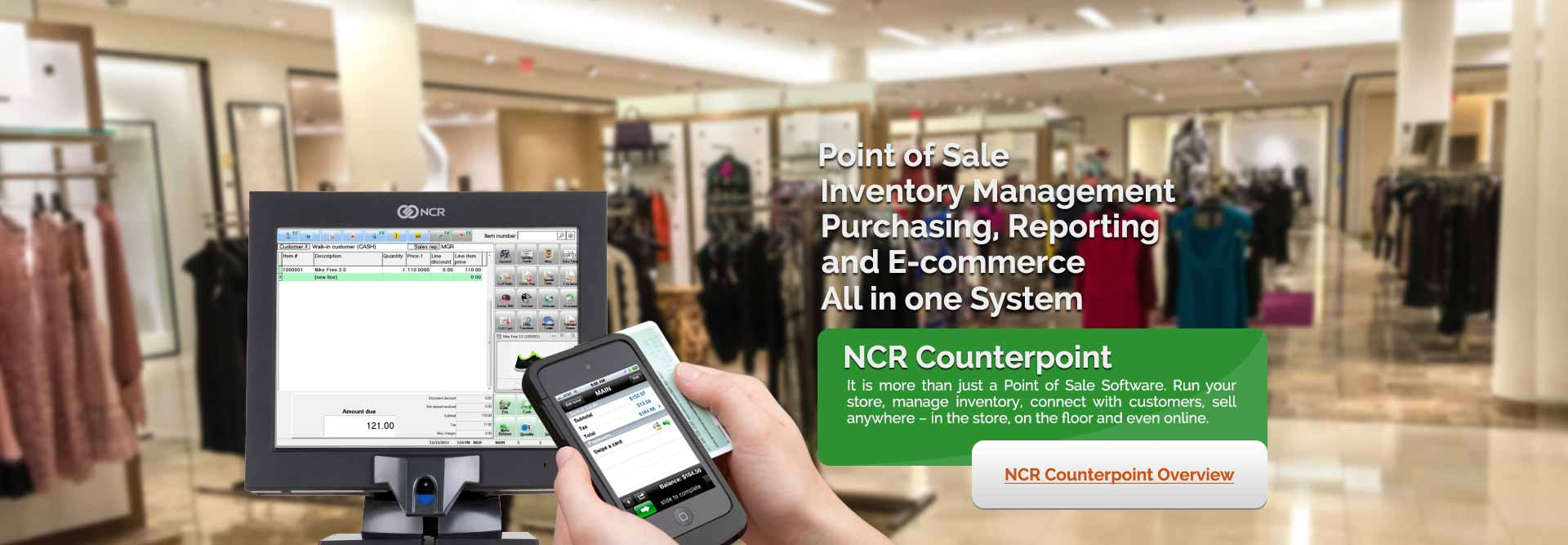 retail management and ncr counterpoint pos